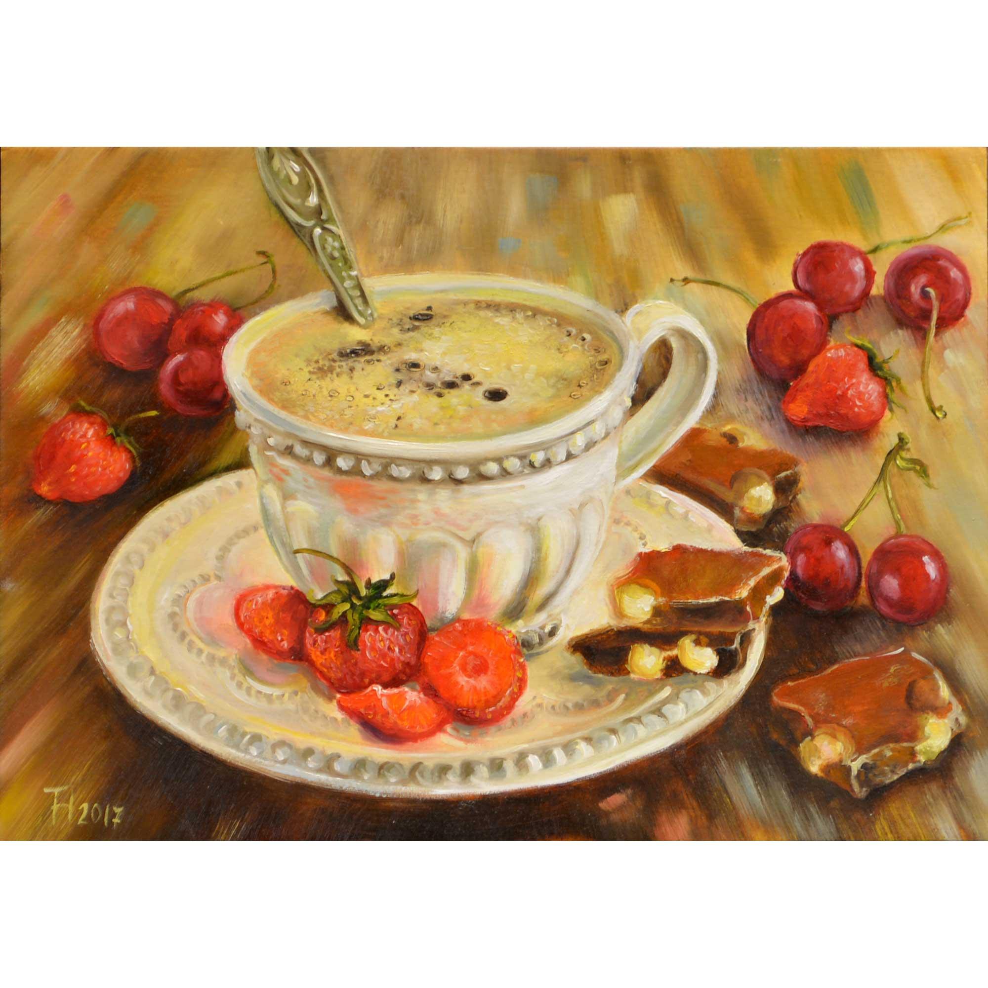 Чашка кави з шоколадом. 2017. Тетяна Кучмій