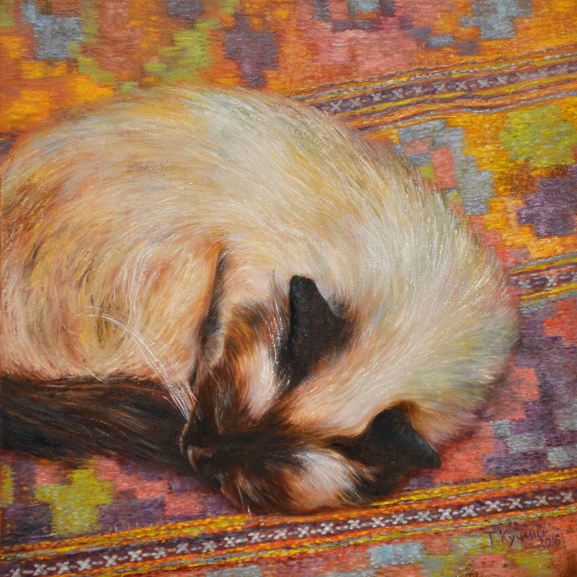 На бабусиному килимі. 2016. Тетяна Кучмій
