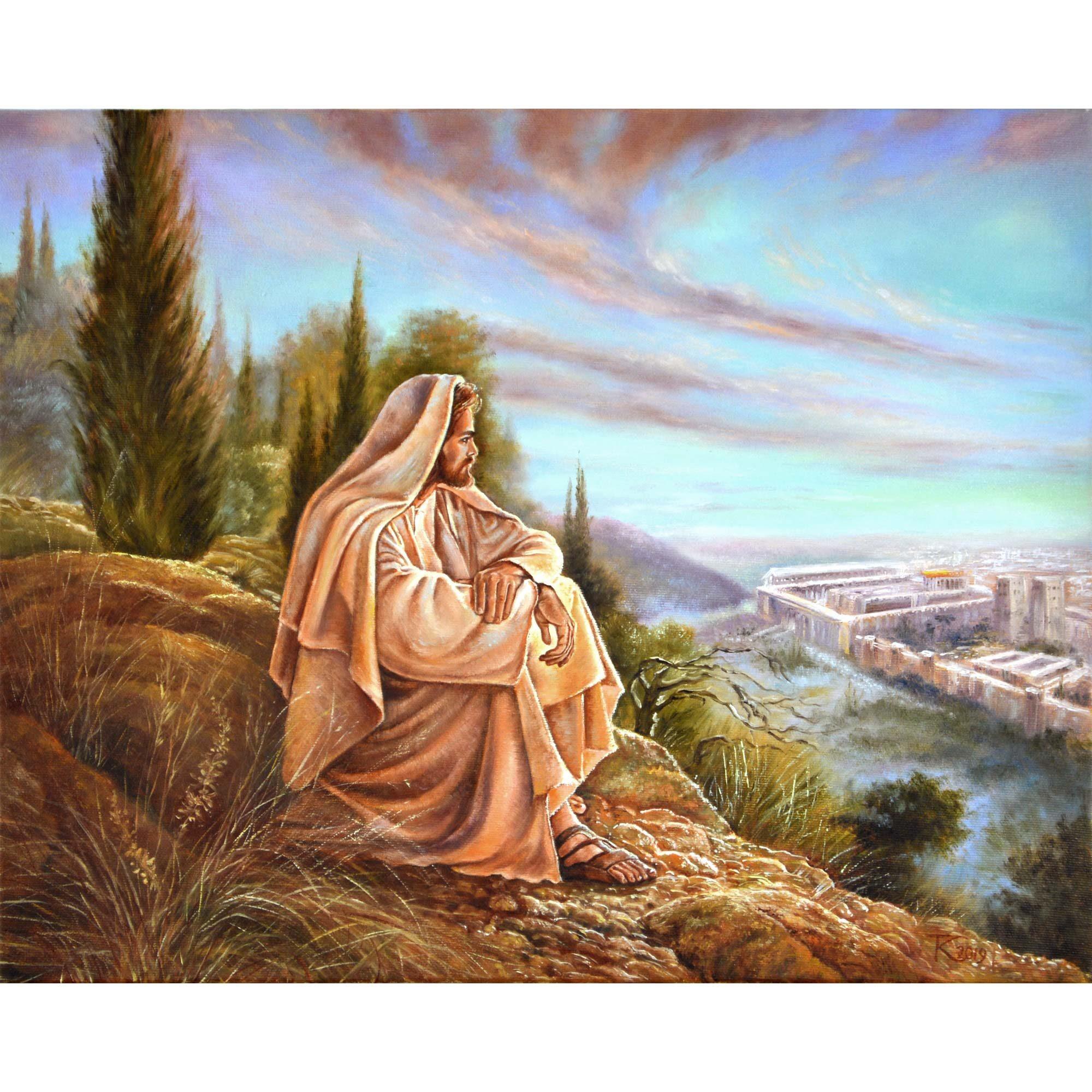 Ісус на Оливній горі. 2019. Тетяна Кучмій